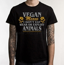 Cool Vegan meaning men's t-shirt