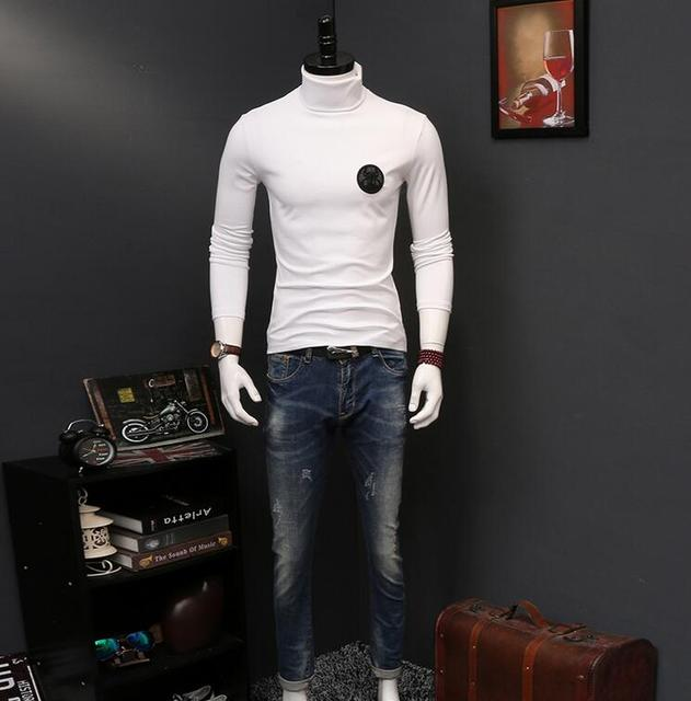 High Quality men luxury brand Thick Warm Long Sleeve High Neck T ...