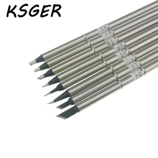 KSGER Black XA Grade Lead Free T12 K T12 ILS T12 J02 KU BC2 D16 D24 BL Electric Soldering Iron Tips For FX951 Soldering Station