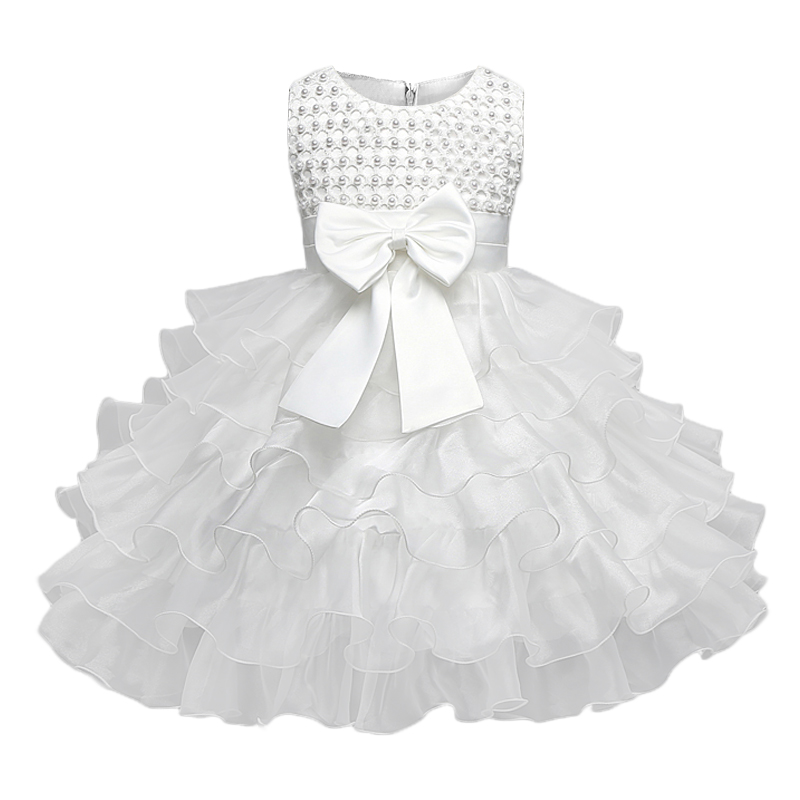 83ff3681a33b4 US $10.13 18% OFF|Newborn Baby Girl Winter Christmas Clothes Wedding Tutu  Dress For Girls Princess Infant 1 Year First Birthday Girl Party Dress-in  ...