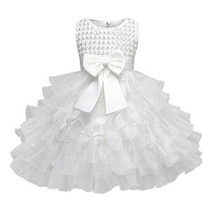 Newborn Baby Girl Winter Christmas Clothes Wedding Tutu Dress For Girls Princess Infant 1 Year First Birthday Girl Party Dress(China)