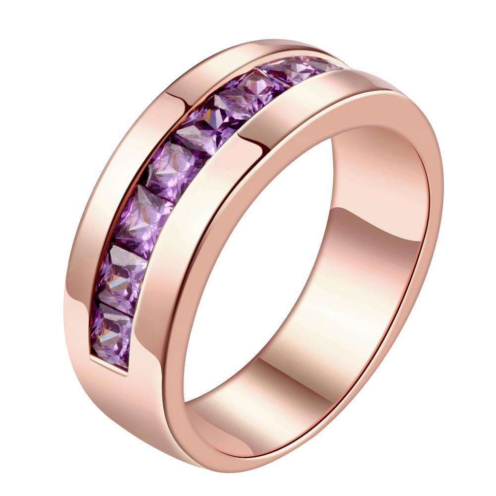 R182-A-8 High Quality Nickle Free Antiallergic New Fashion Jewelry 18K Plated zircon Ring