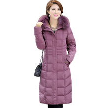 2014 Winter Plus size Women's Large Fur Collar White Duck Down Coats Ultra Long Parkas Women Brand 1501
