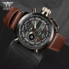 Montres Hommes Marque De Luxe De Natation Numérique LED Quartz Sports de Plein Air Montres Militaire Relogio Masculino Horloge Avec Bracelet En Cuir
