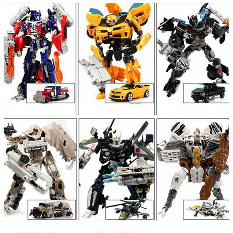 New Transformation Robots Toys for Children gift pvc Robots Action Figures Toys Car Robots Transformation Toys birthday gift thinkeasy 8 pcs set puzzle transformation star wars space cars prime bruticus action figures block toys for kids birthday gifts