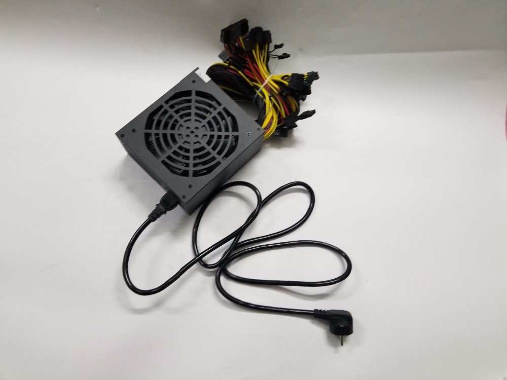 YUNHUI ETH ZCASH MINER Gold POWER 1600W (with cable) ETH miner power supply for R9 380 RX 470 <font><b>RX480</b></font> 6 GPU CARDS, image
