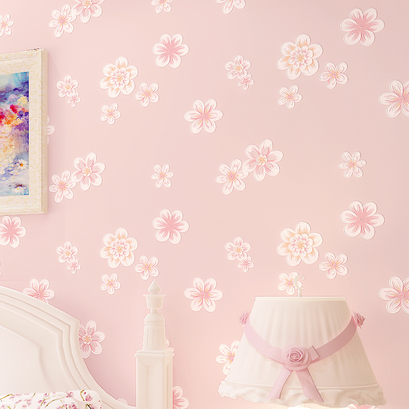 Stereoscopic 3D Floral Wallpapers Papel Pintado Pared Embossed Mural Wallpaper Modern Pink Yellow Light Green Photo Wallpapers beibehang modern luxury circle design wallpaper 3d stereoscopic mural wallpapers non woven home decor wallpapers flocking wa