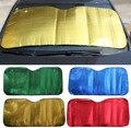 Oro verde rojo azul plata ventana de coche parasol prevención nieve y el hielo para Car Sun Shade Reflective Foil Anti UV coche cubre