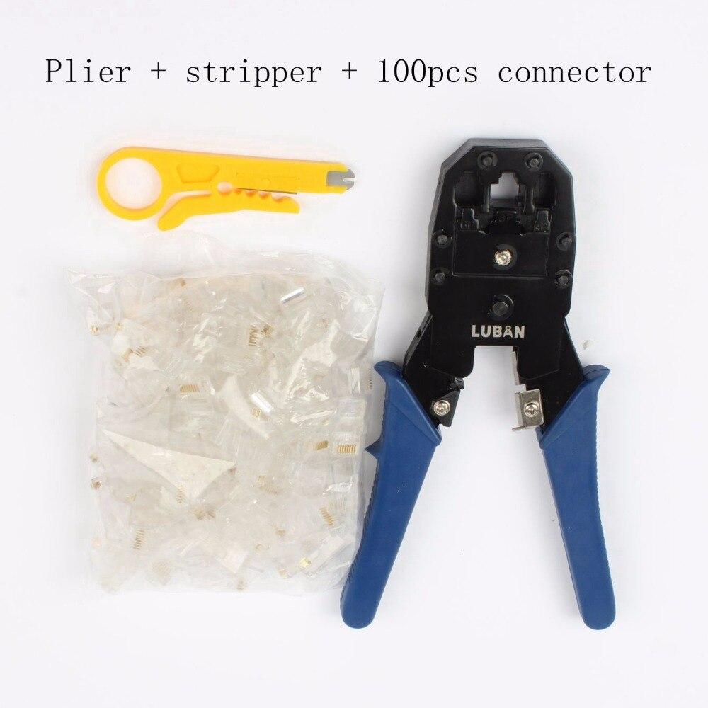 Flache Netzwerk Ethernet Kabel Tester RJ45 Kit Crimpen Werkzeug Netzwerk Computer Wartung Reparatur Tool Kit Kabel Tester Kreuz