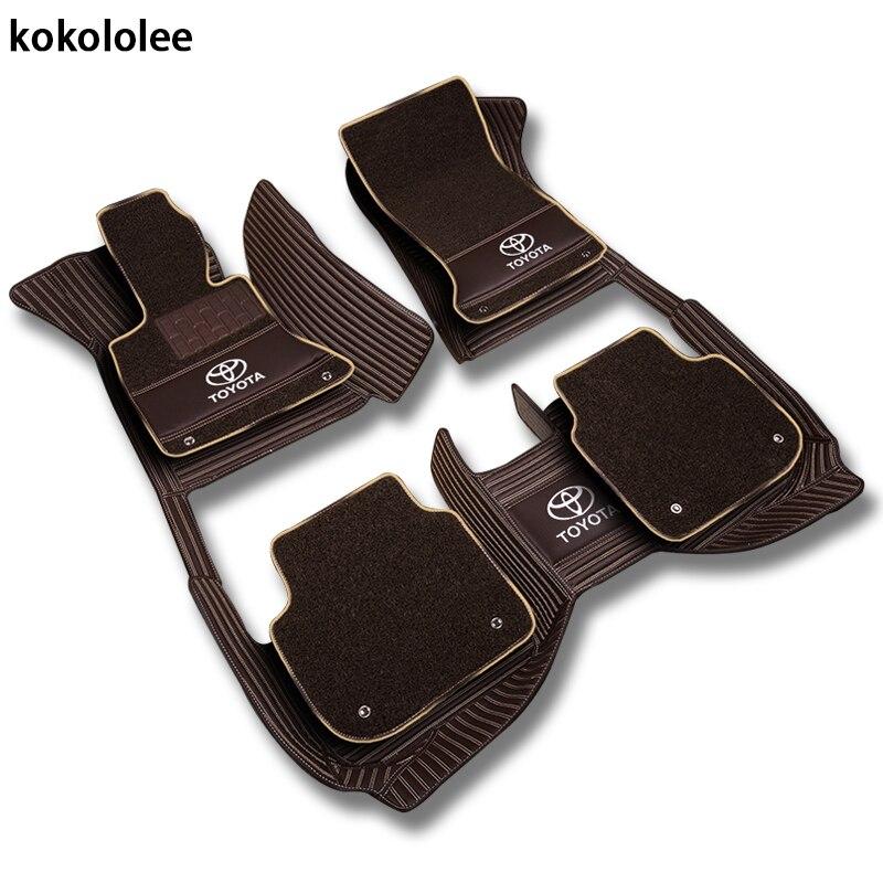 Kokololee пользовательские автомобильные коврики для всех моделей Toyota Corolla Camry Rav4 Auris Prius Yalis Avensis 2014 авто аксессуары для укладки