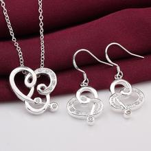 INALIS Necklace And Earrings Sets High Quality 2-Piece Jewelry Sets Nickel Free Crystal Jewlery Sets Sliver plated Free Shipping