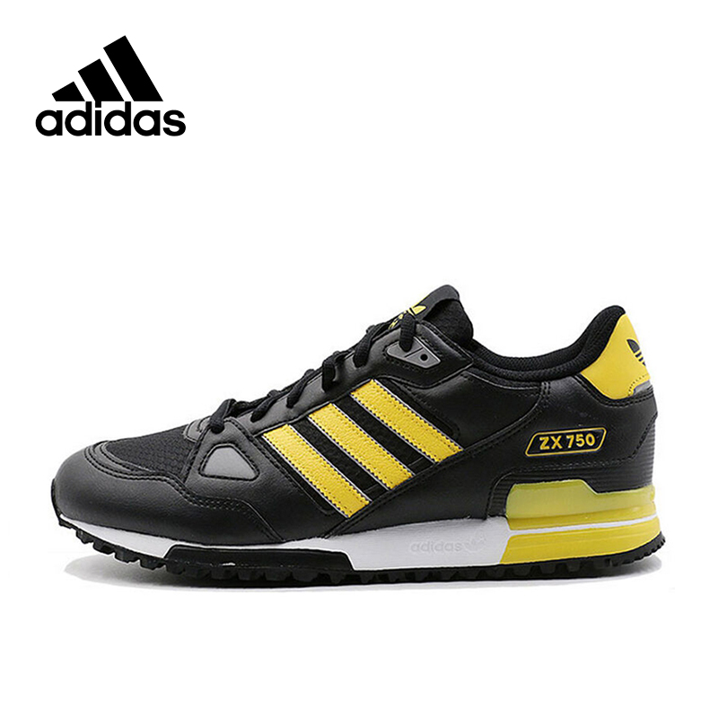 Official New Arrival Adidas Originals ZX 750 Men's Skateboarding Shoes Sneakers Classique Shoes Platform Breathable adidas original new arrival official neo women s knitted pants breathable elatstic waist sportswear bs4904