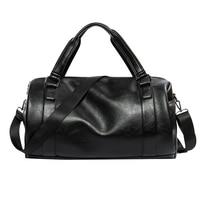 Men S Pu Leather Fitness Gym Bag Outdoor Unisex Sport Bags Professional Men Women Waterproof Shouder