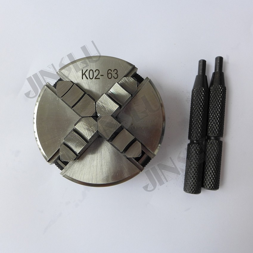 Free shipping SANOU mini self-centering chuck K02-63 machines tools M14*1 Thread