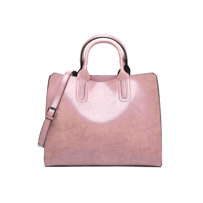 Casual Crossbody Totes Top-Handle Oil Wax Leather Hand Bag