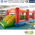 PATIO venta Caliente Nuevo artículo carrera de obstáculos inflables para niños divertidos juguetes para niños para niños Con Ventilador