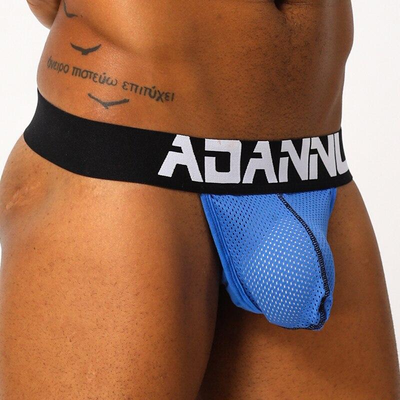 Sexy Mens Underwear Thongs Cotton Men Jockstrap Briefs Man Transparent G String Thongs Men's Underpants Lingerie T Back AD152