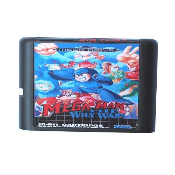 Mega Man The Wily Wars 16 bit MD Game Card For Sega Mega Drive For Genesis