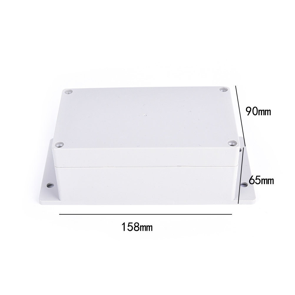1pc DIY Waterproof Plastic Enclosure Box Electronic Project Instrument Case 158*90*65mm Outdoor Junction Box Housing New 1pc waterproof enclosure box plastic electronic project instrument case 200x120x75mm