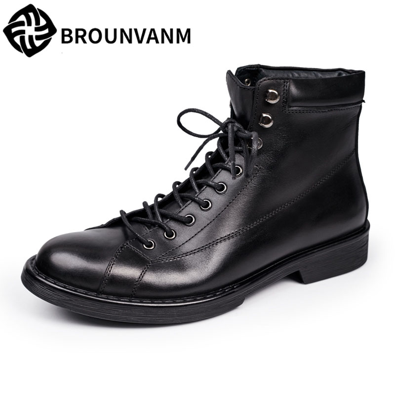 Martin winter leather boots fashion trend of British all-match high shoes with thick soled men boots short boots woman the fall of 2017 a new restoring ancient ways british wind thick boots bottom students with martin boots