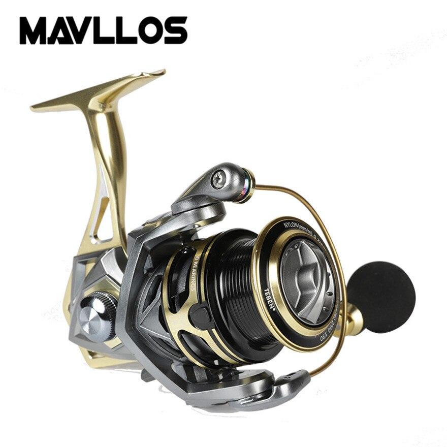 Mavllos Макс Перетащите 20 кг золото металла джиг спиннинг катушка рыбалка 2500 левый и правый ручка Морской Приманка спиннингом для рыбалка
