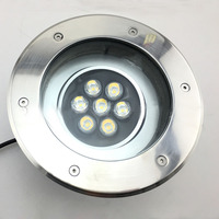 (5 pçs/lote) IP68 7w Pode Ser Escurecido LED Lâmpada Subterrânea 110v 220v Ao Ar Livre Caminho Garden Chão lâmpada de Assoalho  Lâmpada Subterrânea Enterrado Quintal