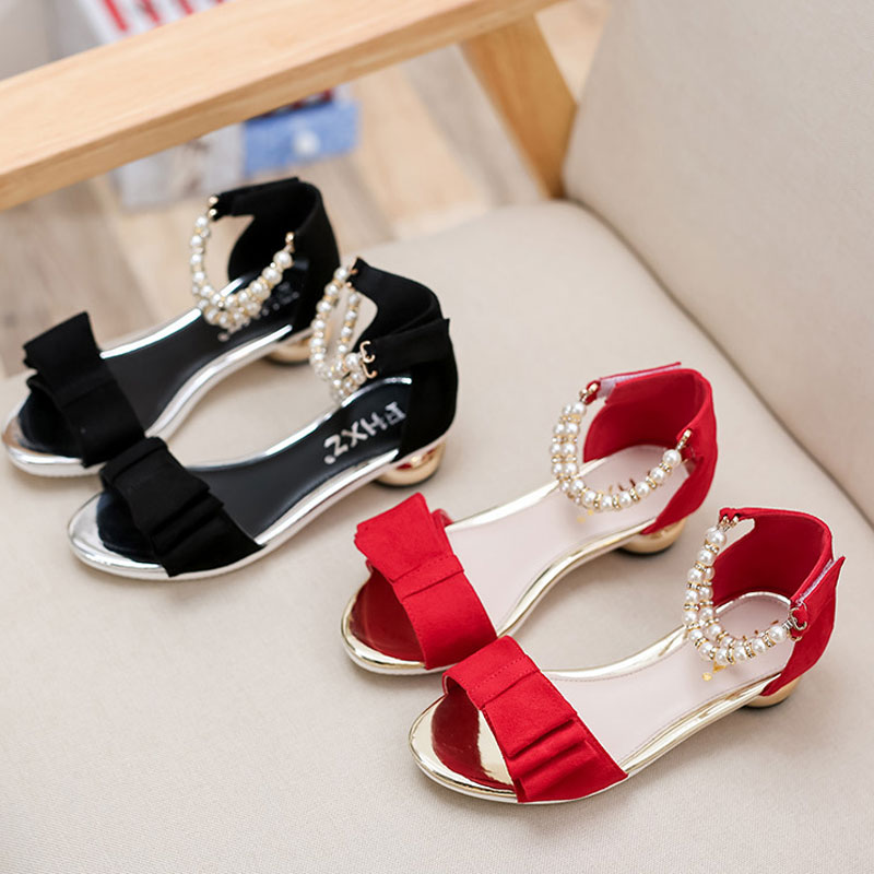 06c87bd8a 2016 New Children Sandals Girls Sandals Summer Fashion Kids Sandlas Cute Pearl  Design Princess Shoes Girls Party Dress Shoes-in Sandals from Mother   Kids  ...