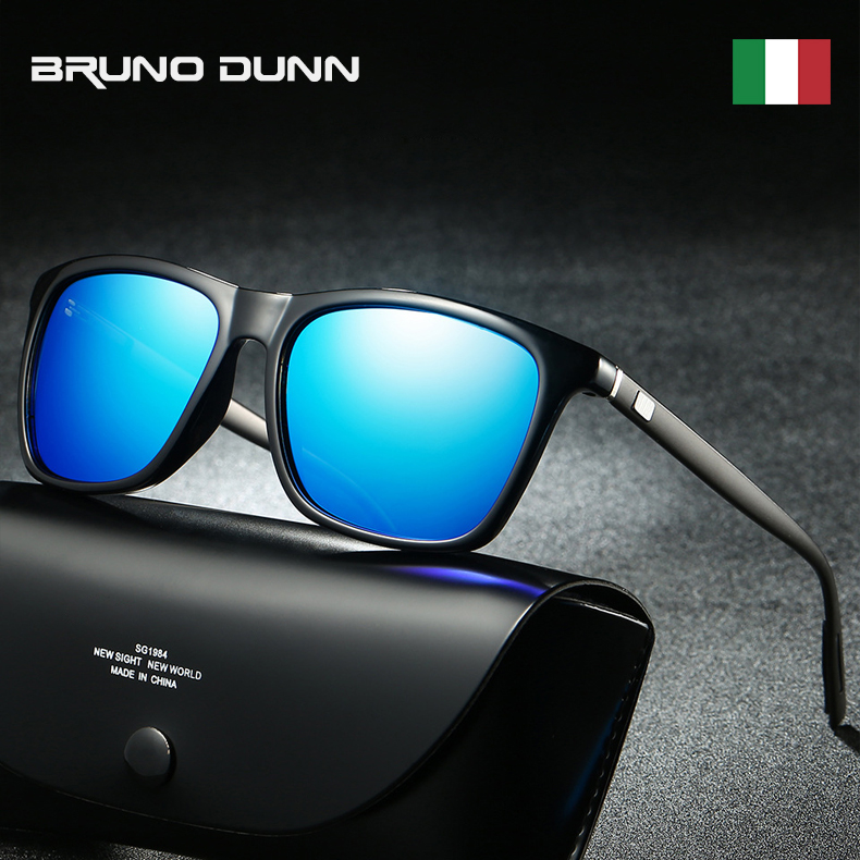 Bruno Dunn Brand Unisex Retro Aluminum+TR90 Sunglasses Polarized Lens Vintage Eyewear Accessories Sun Glasses For Men/Women 6108