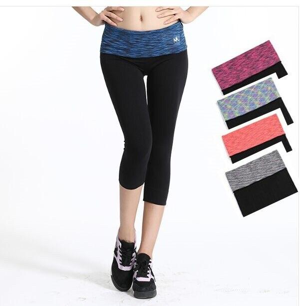 144c72caa0 Kobiety Rajstopy Kolorowe Talia Legginsy Spodnie Sportowe Joga Sportwear  Kobiet Kulturystyka Workout Gym Legging Capris Dla Kobiety