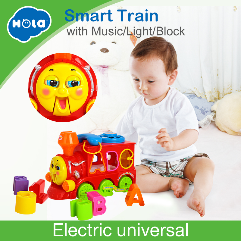 все цены на HUILE TOYS 8810 Baby Toys Bump & Go Train with Lights & Music Block Letters Shape Sorter Learning Educational Toys for Children онлайн