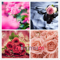 High Quality Gift To Lover DIY 5D Diamond Painting Rose Garden Cross Stitch Beautifl Flower Bouquet