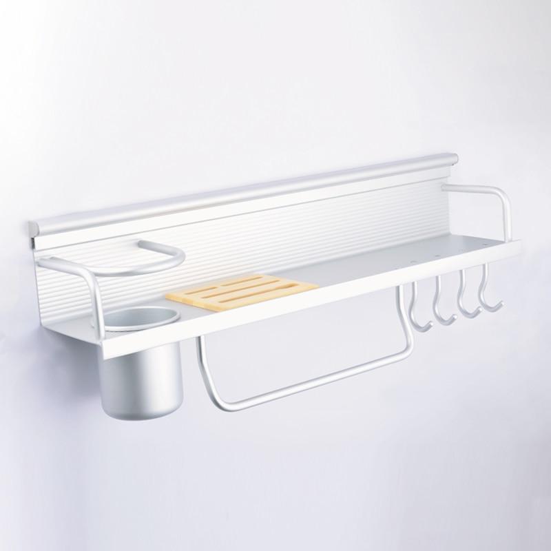 A1 Multi-tool rack seasoning barrel tool rack bathroom space aluminum kitchen pendant hanging rack LU4286 цена
