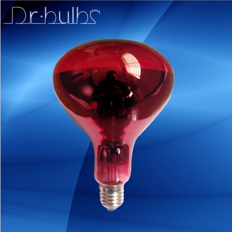 drbulbs 100W 150W 250W infrared lamp,R95 IR Red 275W 230V E27 ES