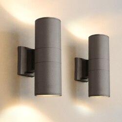 Led na zewnątrz ściana światło na zewnątrz wodoodporna podwójna głowica kinkiet lampa dwustronna na zewnątrz ściany światła korytarz na zewnątrz ganek światła Zewnętrzne lampy ścienne Lampy i oświetlenie -