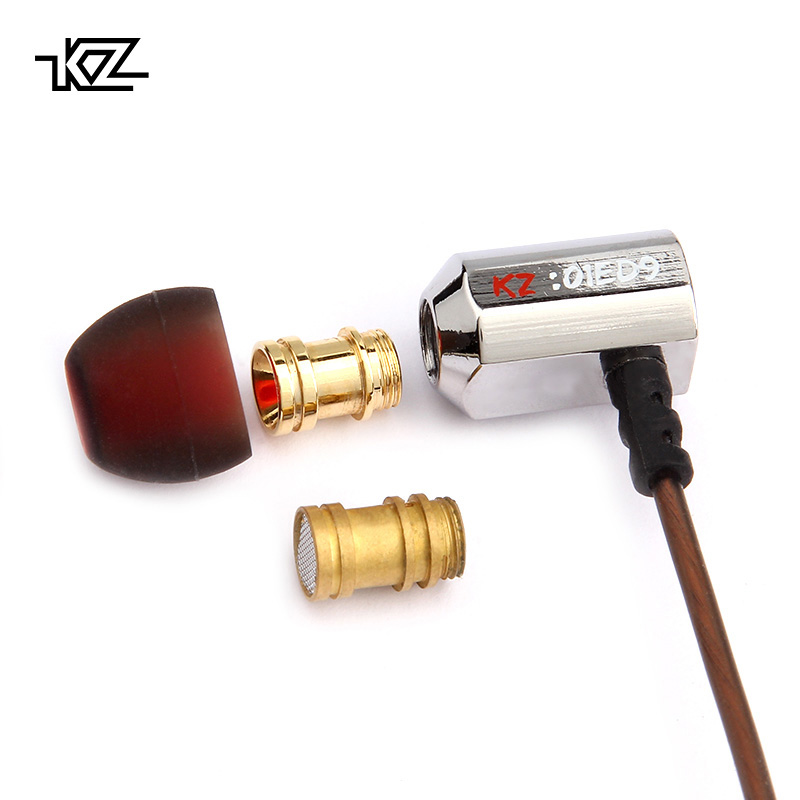 KZ ED9 Earphone 3PC Super Bass In Ear Music With DJ Earphones HIFI Stereo Earbuds Noise Isolating Sport Earphones With Mic kz ed2 stereo metal earphones with microphone noise cancelling earbuds in ear headset dj xbs bass earphone hifi ear phones