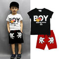 New Baby Boy Kids Cartoon Mouse Short Sleeve T-shirt+ Palm Shorts Pants 2pcs Children Clothing Set