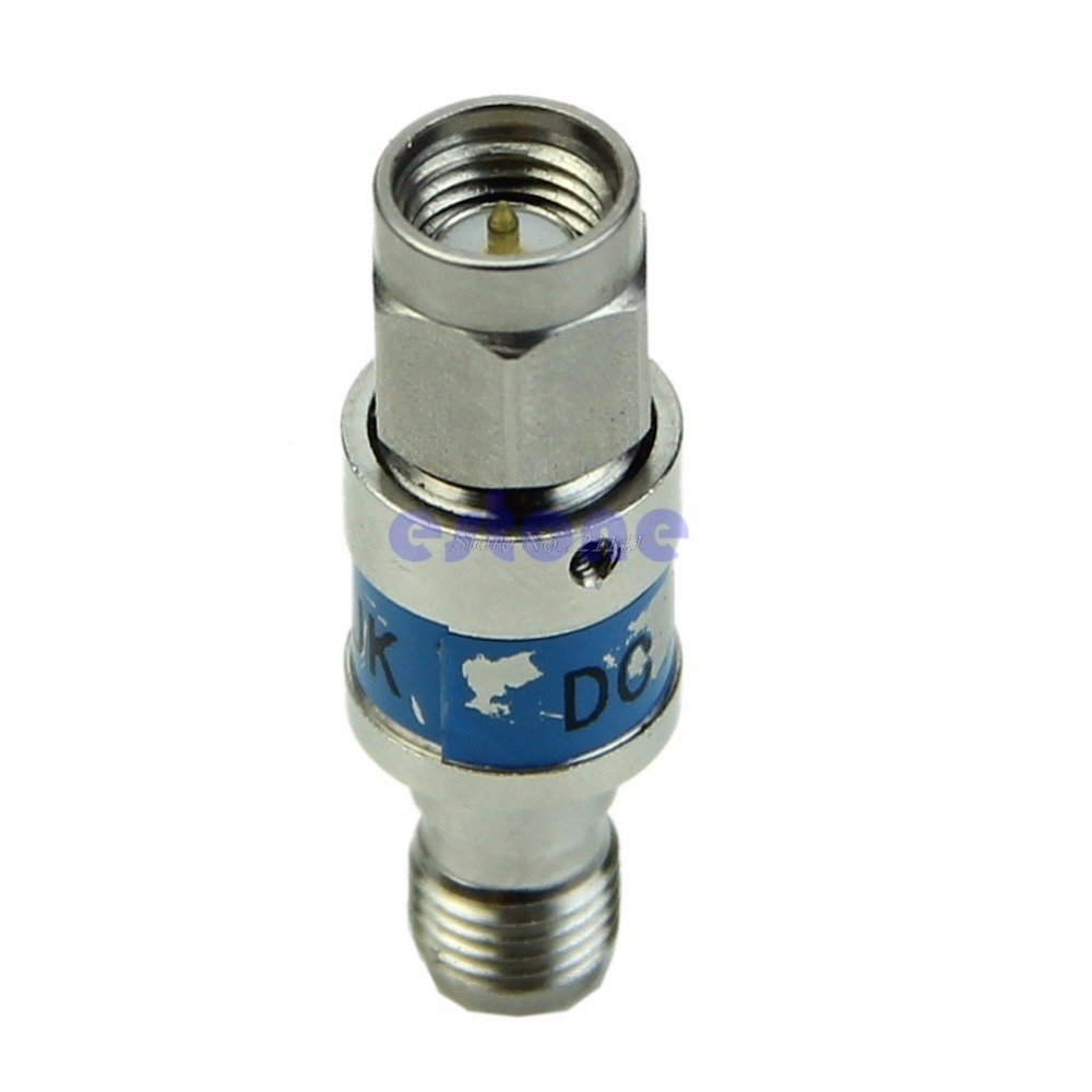 SMA male to female Stainless steel RF Coaxial DC block 6000MHz 50ohmsSMA male to female Stainless steel RF Coaxial DC block 6000MHz 50ohms