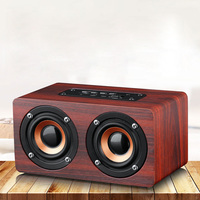 Wood Mini Bluetooth Speaker Classic Portable Wireless Speaker Home Theater Party Speaker Sound System 3D Stereo