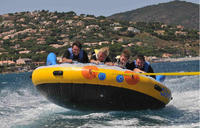 inflatable crazy sofa, crazy UFO 4 riders