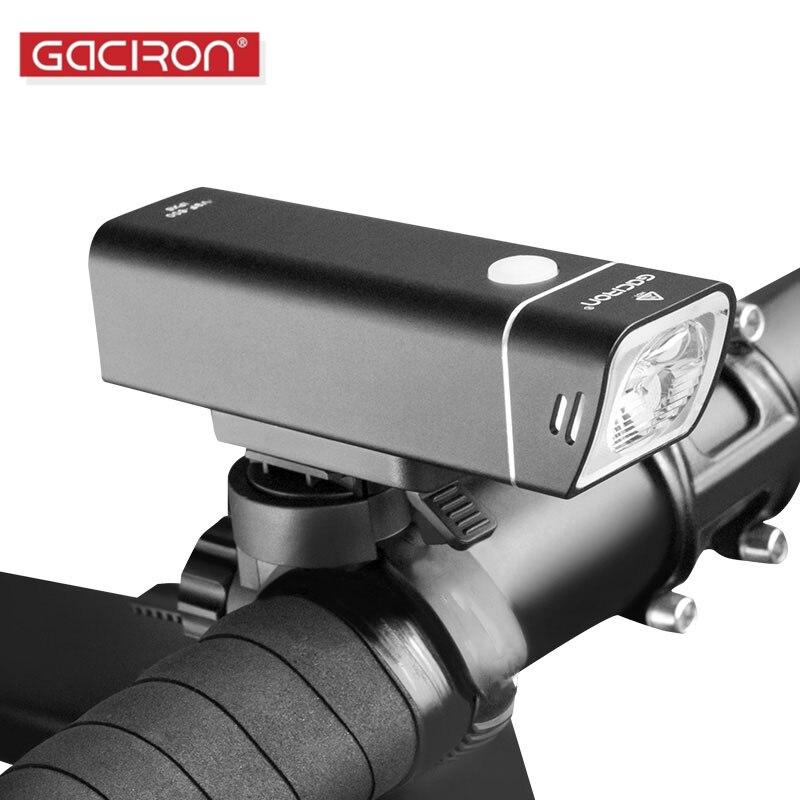 GACIRON LED lampe de Poche Lumière De Vélo Large Projecteur Rechargeable IPX6 Étanche Vélo Lanterne Pour Vélo Accessoires