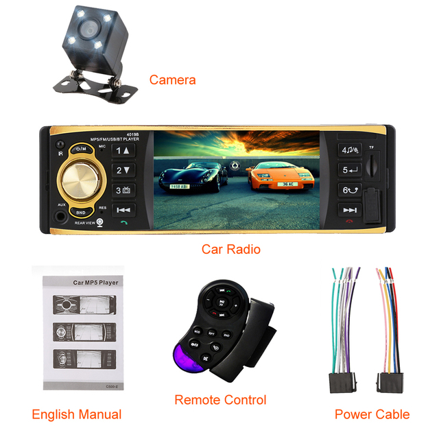 Car Radio Stereo System with Rearview Camera