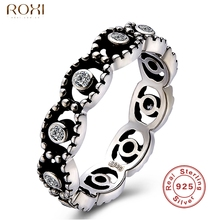 ROXI 925 Sterling Silver Finger Rings With Clear Crystal Zirconia Ring For Women Female Gift Fashion Original Jewelry Making
