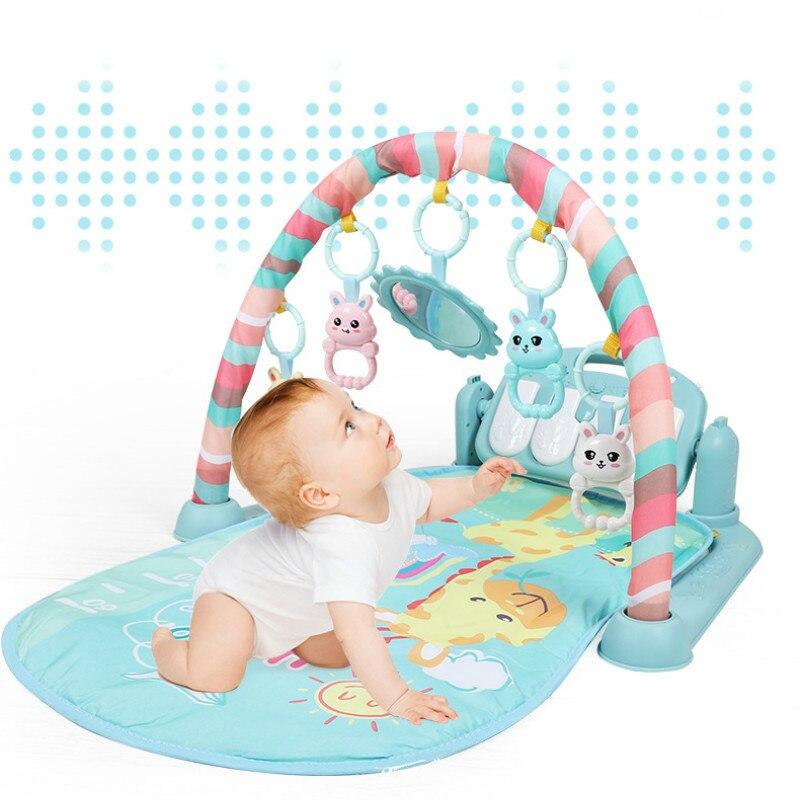 0-15 м для фортепиано играет музыка коврики детские Playmat С пианино и милые животные Детские Тренажерный зал Ползания активность Игрушки