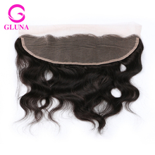"13×4 Ear to Ear Peruvian Lace Frontal Closure Peruvian Body Wave Frontal With Bundles  8″-22 "" Gluna Free Part Lace Frontals"