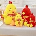 Курица талисман плюшевые игрушки большой петух Зодиака куклы подушка компания будет небольшой подарок