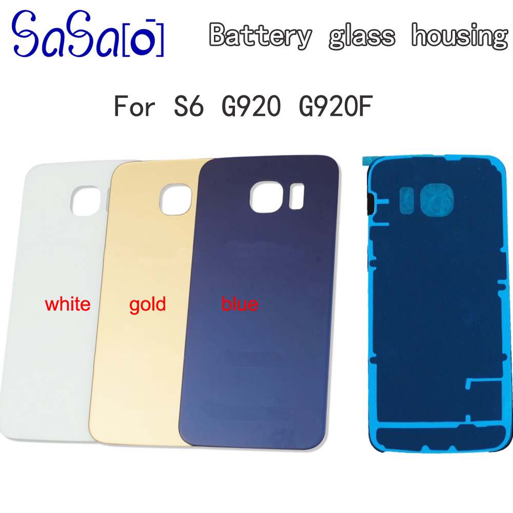 Back Glass cover Replacement For Samsung Galaxy S6 G920 G920F Battery Door Case housing with sticker