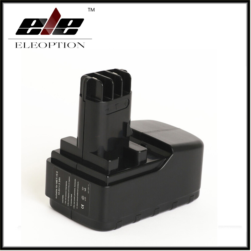 Eleoption 15.6V 3300mAh Ni-MH Replacement Power Tool Battery For Metabo BSP15.6PLUS/BS 15.6 plus/BST 15.6 Plus стоимость