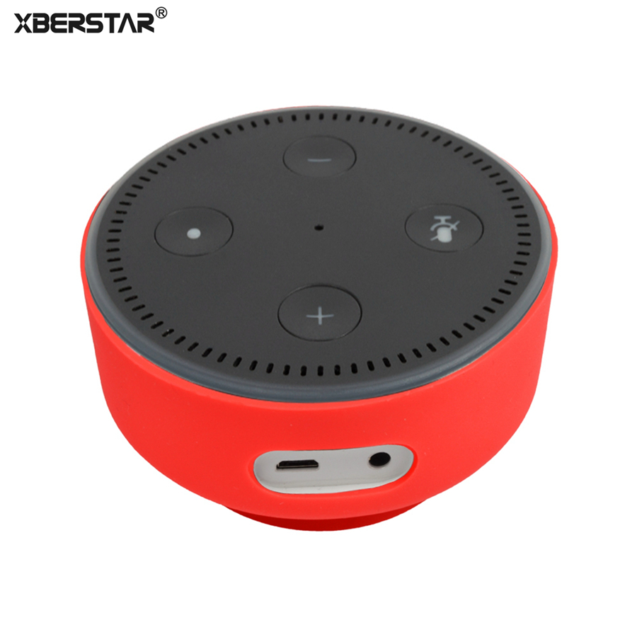 Best buy ) }}Silicone Protective Soft Case Cover for Amazon Echo Dot2 Dot 2