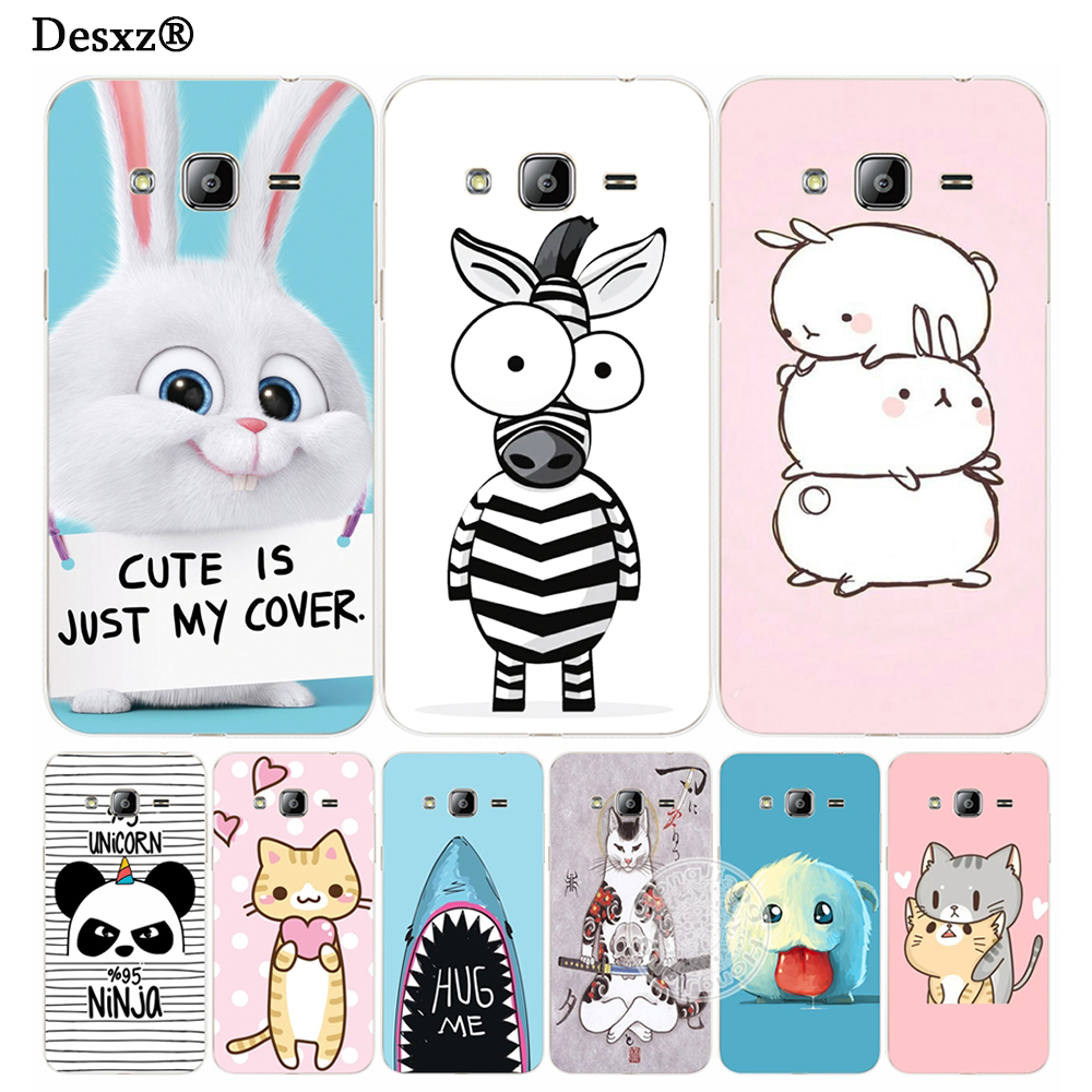 Desxz Cases cute animal zebra rabbite cover phone case for Samsung Galaxy J1 J2 J3 J5 J7 MINI ACE 2017 2016 2015