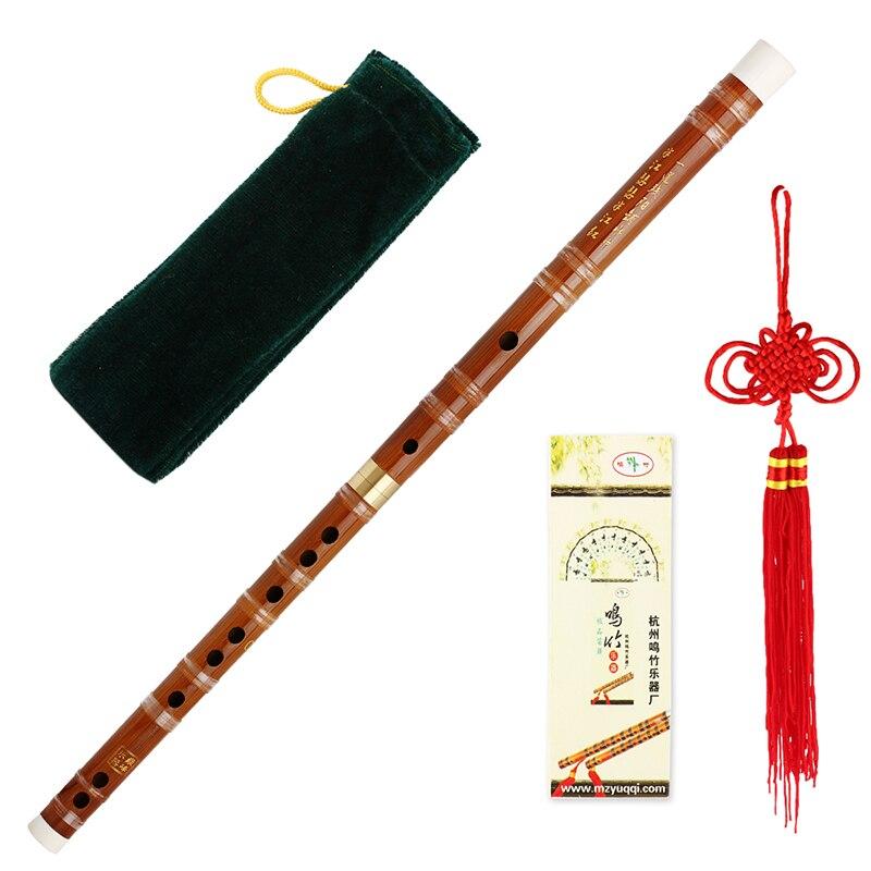 Instrumento musical chino bambú Flautas/dizi en D Pluggable tradicional hecho a mano
